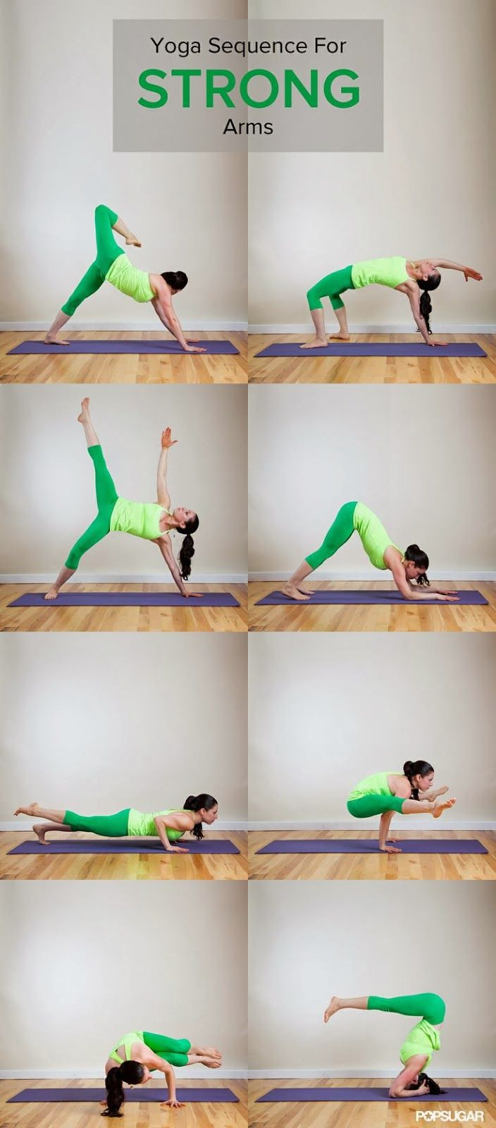 Yoga sequence for strong arms @Rachel Taylor ...um but where are the poses to get my arms strong enough to DO these arm strengthening poses??
