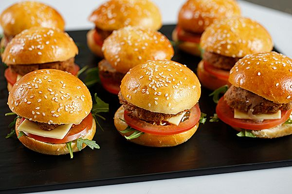 Mini Gourmet Burgers.   #fingerfood #canapés #catering #cateringperth #food #grinnerscatering #weddingfood #weddings #partyfood #parties #perthwa