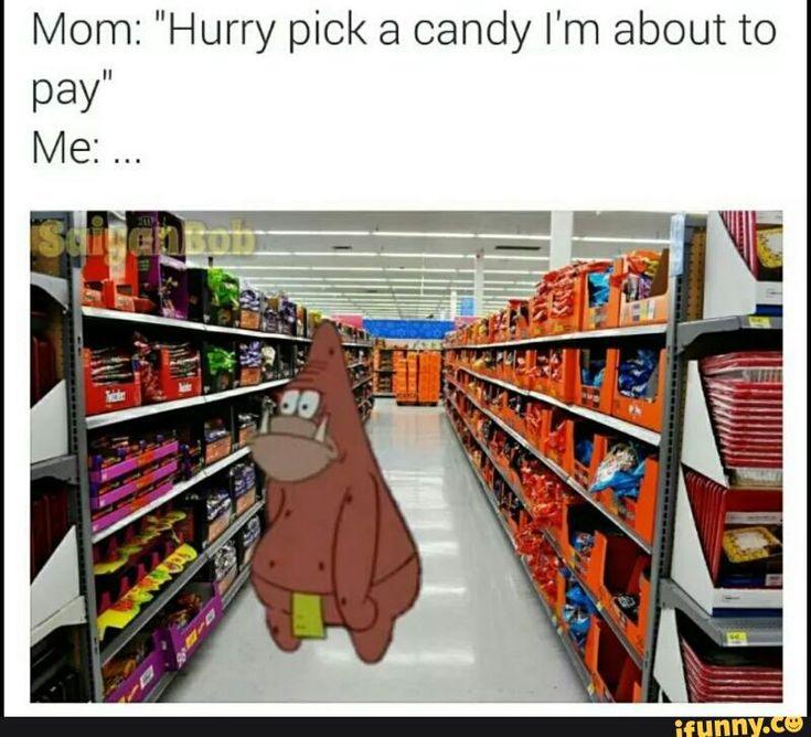 patrick, candy, hurryup