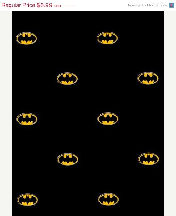 Batman, Comics - Bat Superhero Symbol Logo on Black Wallpaper - Boys Room Decor, Man Cave, Super Hero, Wings - By The Yard - BZ9234 fl