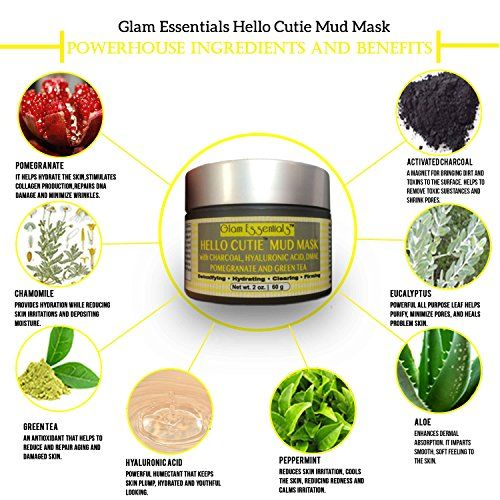 Mud Mask Removes Stubborn Blackheads and Shrink Pores Instantly Guaranteed ●Clears and Brighten Skin ●FREE BRUSH for Smooth Application ● FREE-BOOK to Get Your Glam on and Your Skin Glowing