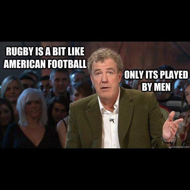 Image result for rugby vs american football jeremy clarkson