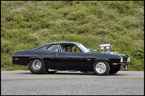 S287 1973 Plymouth Duster  Supercharged 528/1000 HP Hemi Photo 2