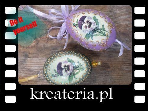 Jak zrobić na wydmuszce crackle 2-składnikowym - kreateria.pl - KreaCraftShow - YouTube