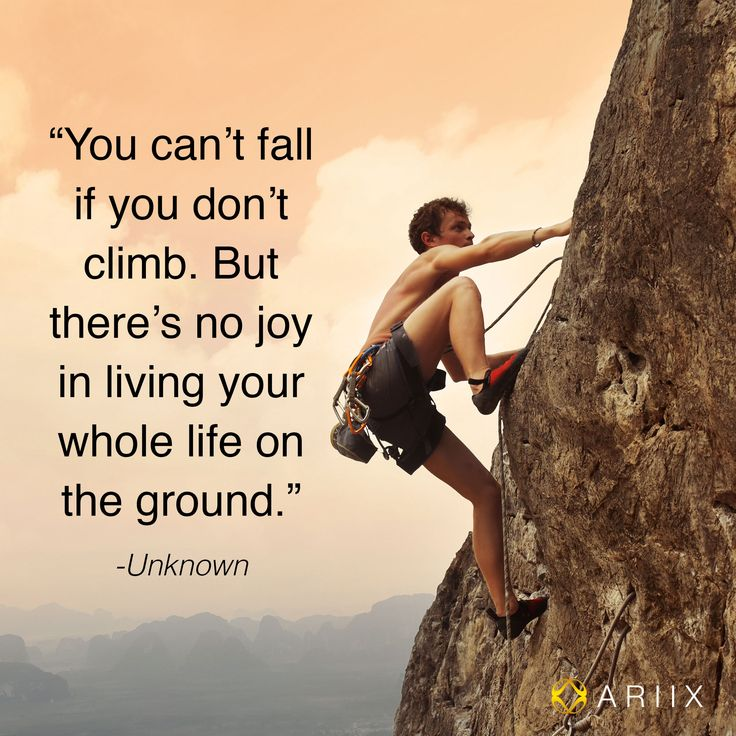 cant fall if you dont climb climbing quotes