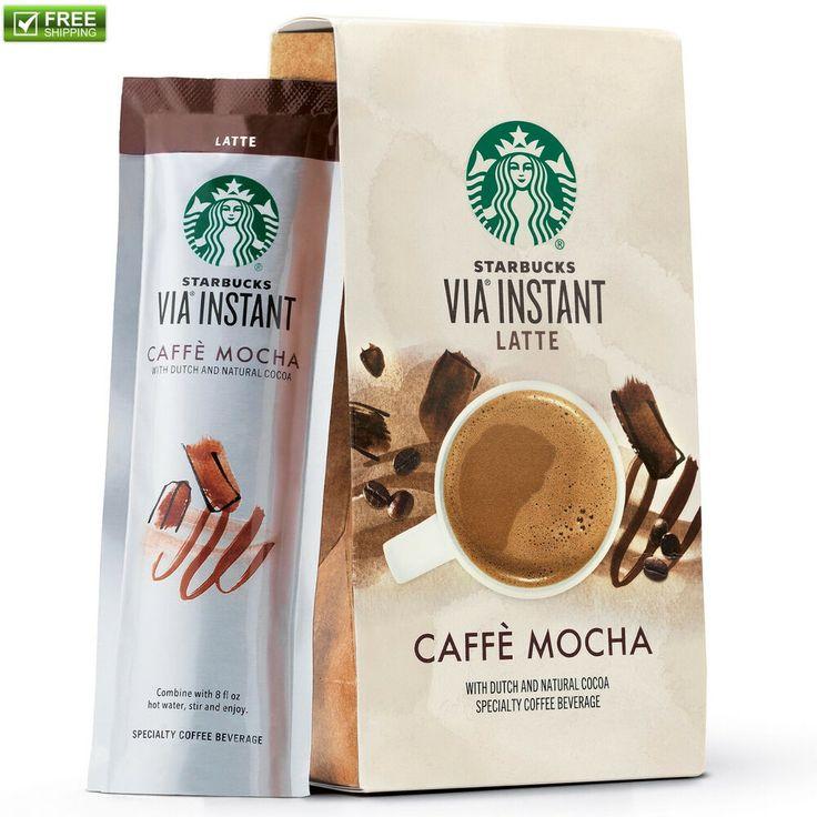 Starbucks via instant coffee caffe mocha latte 65 oz box