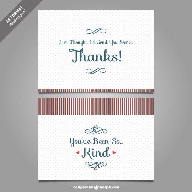 Thank you card template vector Free Vector Gift Card Pinterest - business thank you card template