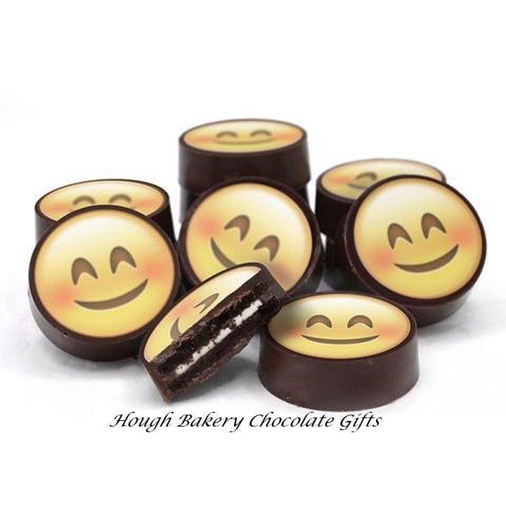 Emoji Happy Face Gourmet Chocolate Covered Oreo Cookies  #Oreo