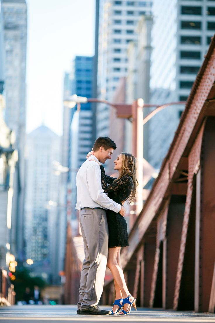 Photography: Ann & Kam Photography & Cinema - www.annkam.com  Read More: http://www.stylemepretty.com/midwest-weddings/2014/04/04/downtown-chicago-engagement-session-2/