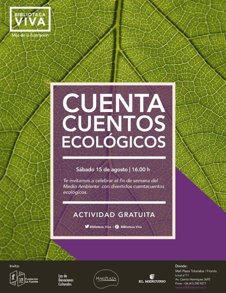 CUENTACUENTOS ECOLÓGICOS  Te invitamos a celebrar el fin de semana del Medio Ambiente con divertidos cuentacuentos ecológicos.
