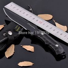 New 603 Black Straight Knife Stainless Steel 5CR13MOV 58HRC Outdoor Survival Camping Hunting Knife(China (Mainland))