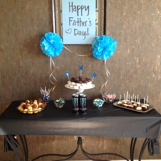 My Father's Day party set up! :)