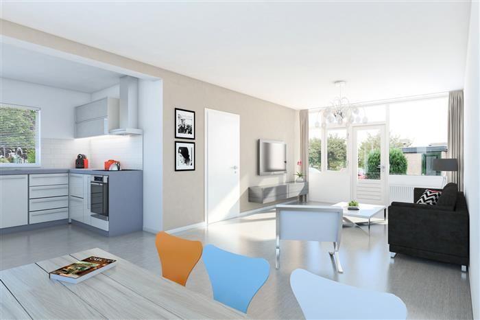Interieur idee voor een eengezinswoning met open keuken. www.dudokwonen.nl