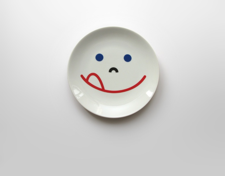I think my plate ate up all my food!  Smile plate  by Prof. Peter Raacke