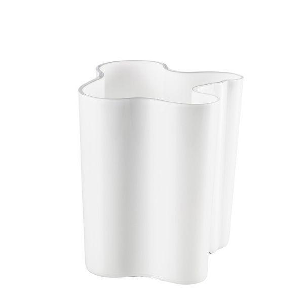 Aalto maljakko 200 mm, valkoinen