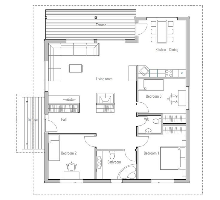 191 best SM Houses images on Pinterest | Small houses, Floor plans ...
