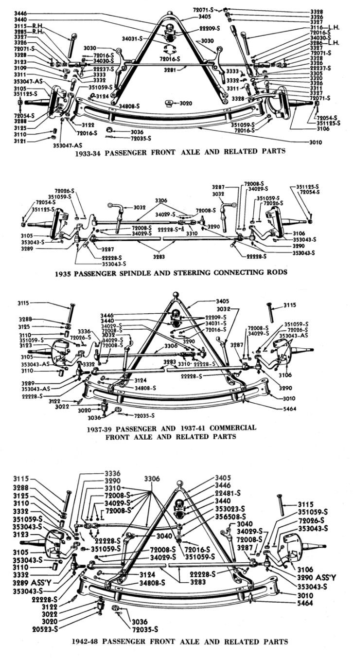 1956 ford country squire smcars net car blueprints forum - 1933 48 Ford Front Suspensions Cars