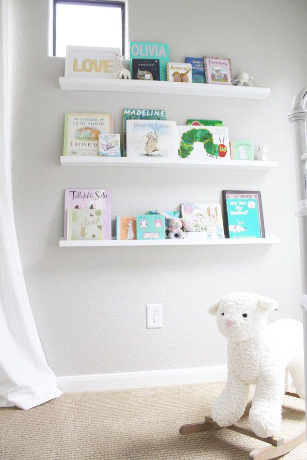 veronika 39 s blushing home decor book shelves from ikea ribba photo ledges mine are the longer. Black Bedroom Furniture Sets. Home Design Ideas