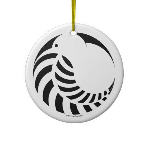 NZ Kiwi / Silver Fern Emblem Christmas Tree Ornament