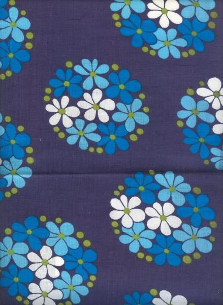 "Vintage Finnish Finlayson ""Finla"" Fabric designed by Aini Vaari in 1974."