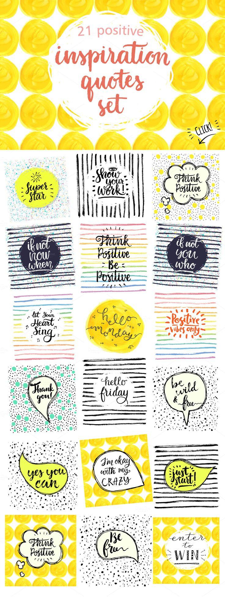 Inspiration quotes set