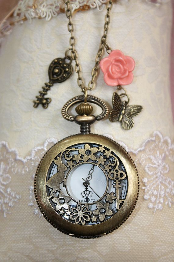 Pocket watch necklace