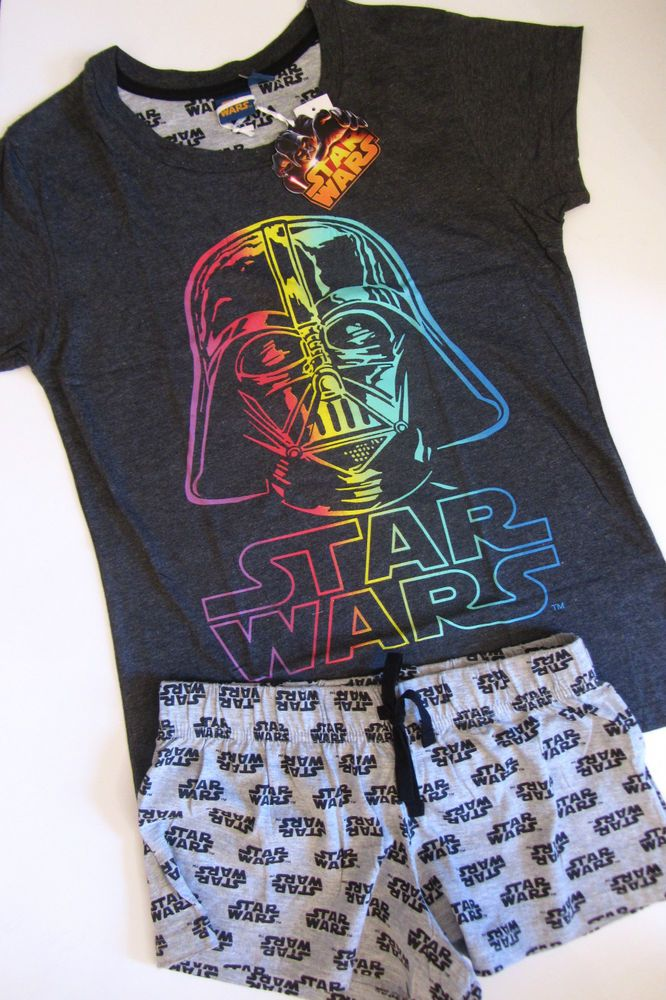 Primark Ladies STAR WARS Darth Vader Rainbow Shorts & T Shirt Pyjama Set #PrimarkLicensed