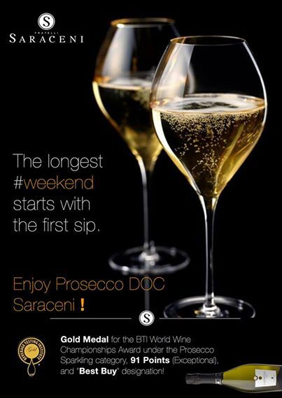 Wherever you are... have a great #sparkling #weekend !  #FratelliSaraceni #Prosecco #DOC