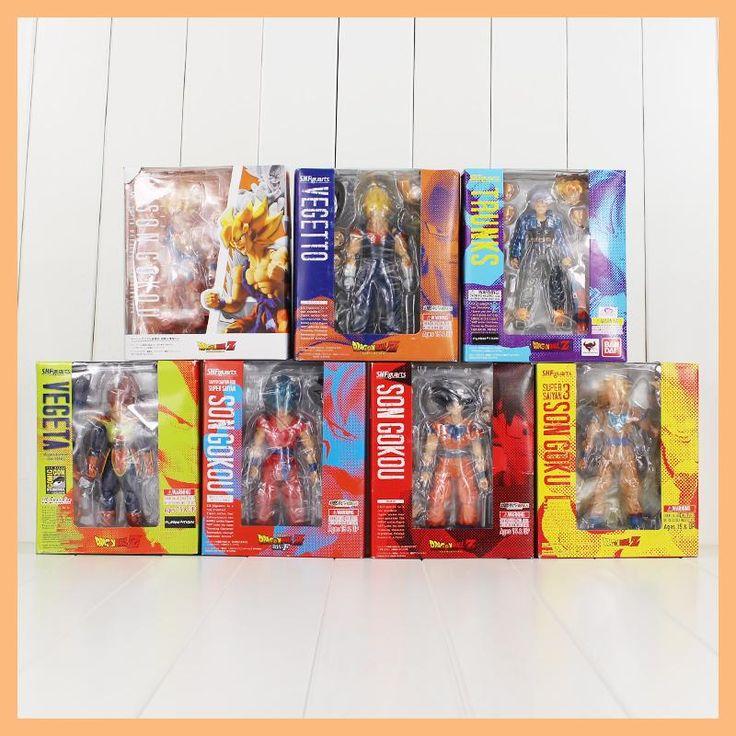Dragon Ball Z Figure SHF S.H.Figuarts Son Goku Vegeta Trunks Vegetto Model Toy DBZ Super Saiyan Space Pod