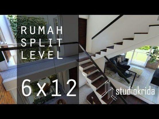 DESAIN RUMAH SPLIT LEVEL DI 6X12 M - YouTube #shedplans in ...