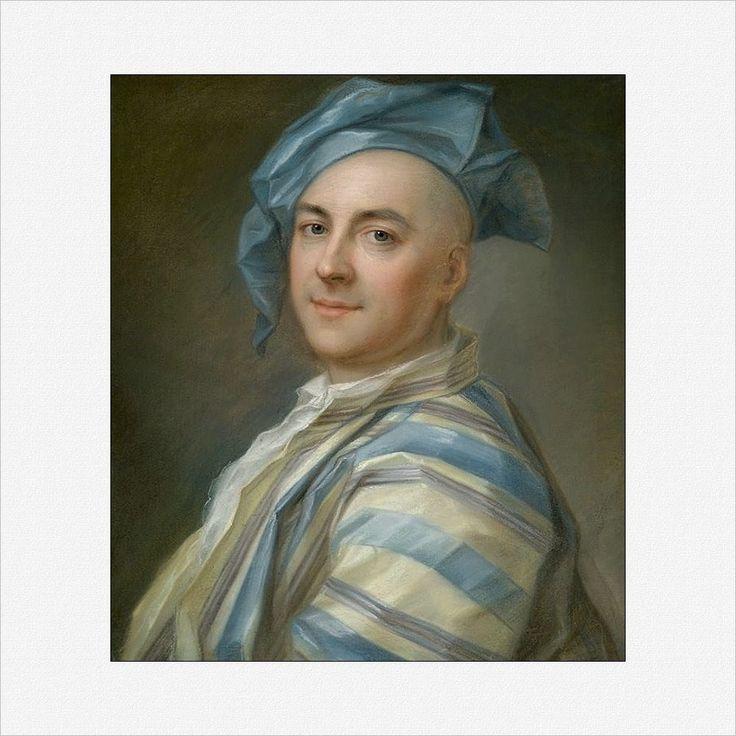 Jean-Louis Lambert · Autoritratto in abito da casa in seta · 1742 · Collezione privata