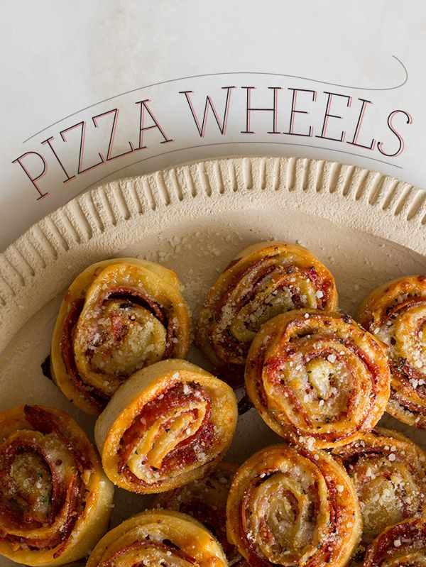 Pizza wheels. A fresh take on the delicious and traditional pizza. These are easy to make and don't require very many ingredients :)