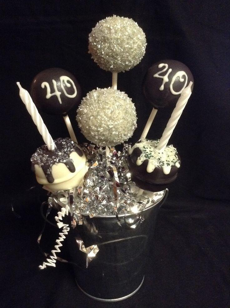 40th Birthday Cake Pops Cake Pops Birthday Cake Pops
