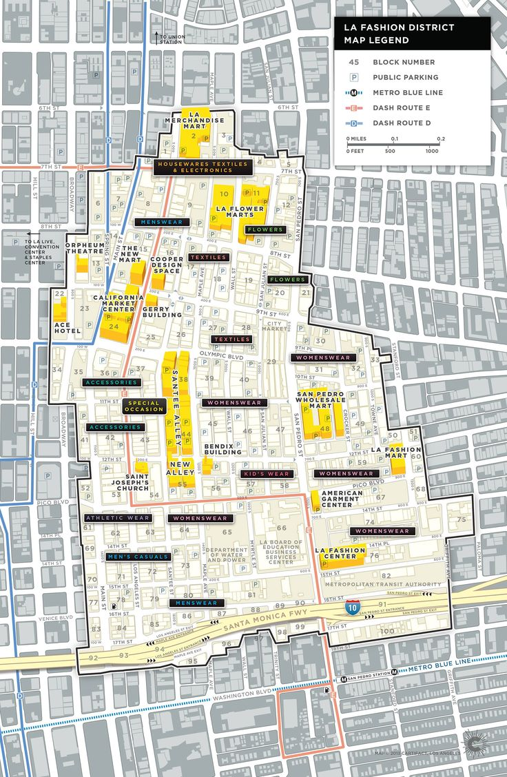 Fashion District Map LAFD Transportation Map Download Map
