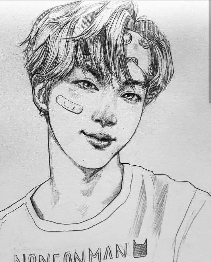 Pin By Lee Sama On Art Kpop Drawings Bts Drawings Bts Fanart