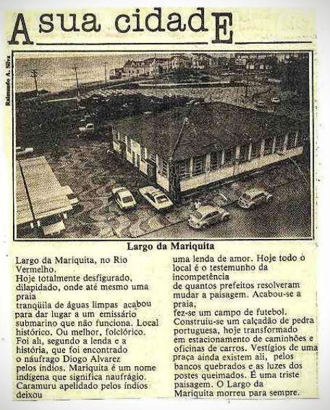 Blog do Rio Vermelho, a voz do bairro: Largo da Mariquita 06/05/1987 - Tribuna da Bahia