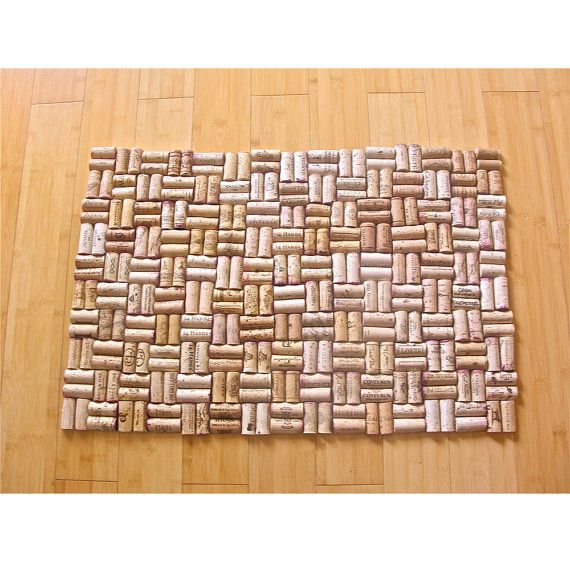 Going to make this for my kitchen- Wine cork floor mat