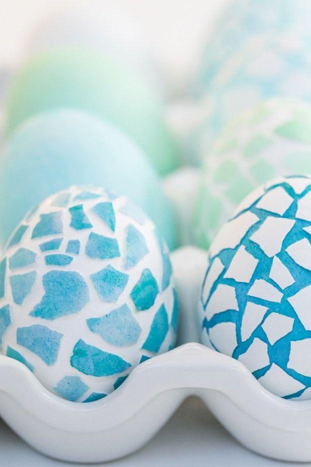 Mosaic Easter Eggs @sugarandcharm