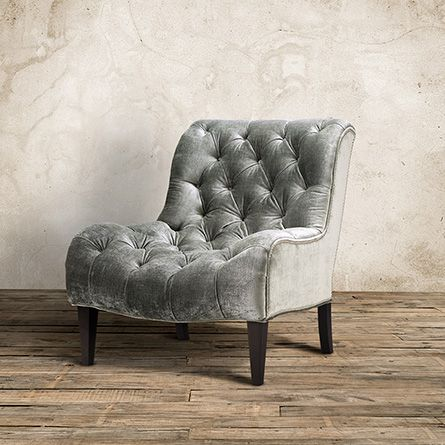 Cecilia Tufted Upholstered Armless Chair In Brussels Charcoal. On sale at Arhause for $899.  Gorgeous!