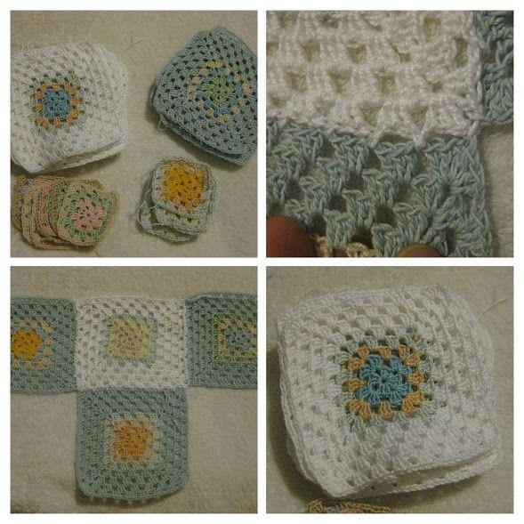 Mantita a crochet para Angelito  2011