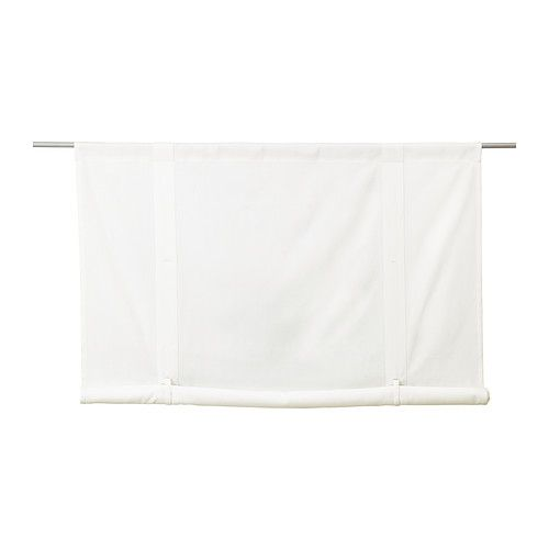 Emmie roll up blind ikea the slot heading allows you to for Roll up curtains ikea