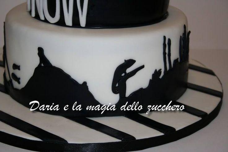 #Black and white cake #Torta 50° in bianco e nero