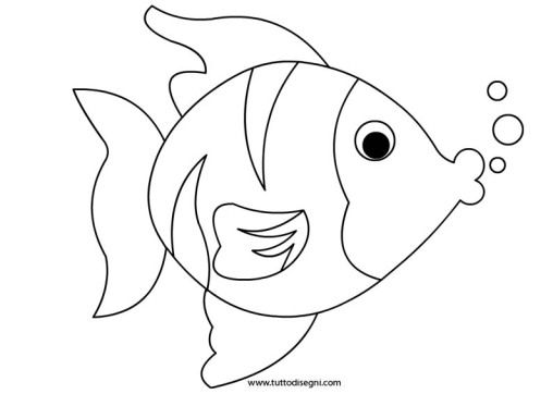 459 best images about animals coloring pages on pinterest for Disegni di pesci da stampare