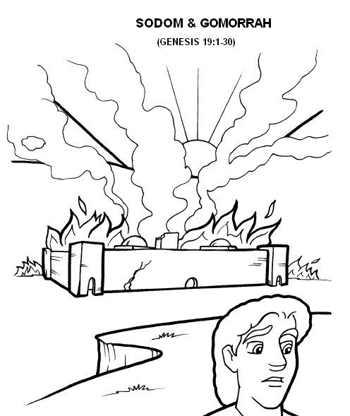 sodom and gomorrah coloring page - 1000 images about children 39 s ministry abraham isaac