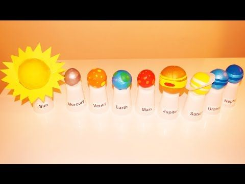 Planets in Our Solar System, School Project for Kids with 3d Models of the planets and Sun - YouTube