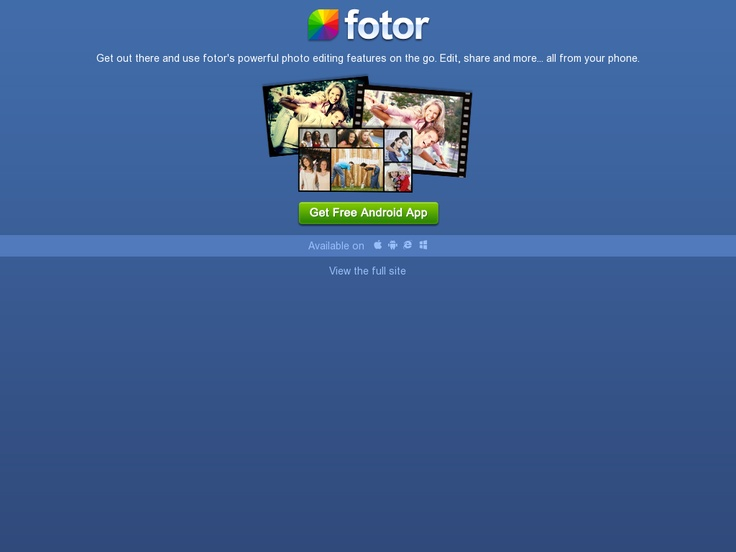 Fotor is an outstanding web-based image editor integrating a unique toolset to create stunning photo-montages, image boards, strips and photo cards. It connects directly to Instagram, Facebook, Flickr, Picasa and more. Free.