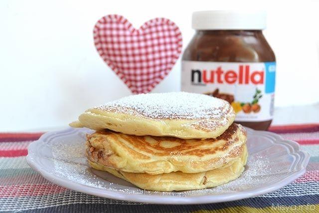 » Pancakes alla nutella Ricette di Misya - Ricetta Pancakes alla nutella di Misya