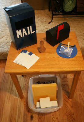 The Domestic Notebook: Preschool Co-Op: Post Office Theme