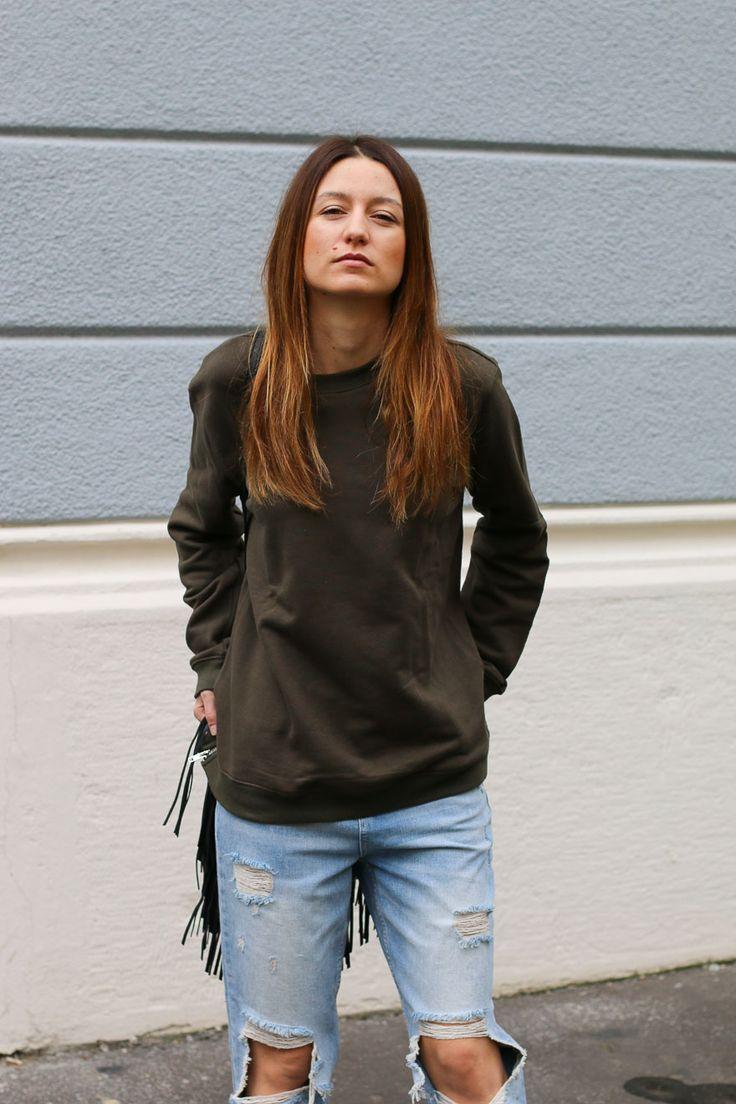 Jeans déchirés | allybing.com | #outfit #casual #look #inspi #tenue #fashion #blog #suisse