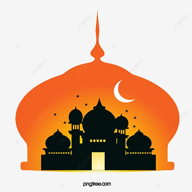 Silhouette Elements Of Yellow Ramadan Mosque Islam Element Silhouette Png Transparent Clipart Image And Psd File For Free Download Seni Anime Seni Siluet